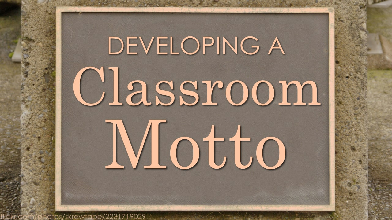 classroom-motto