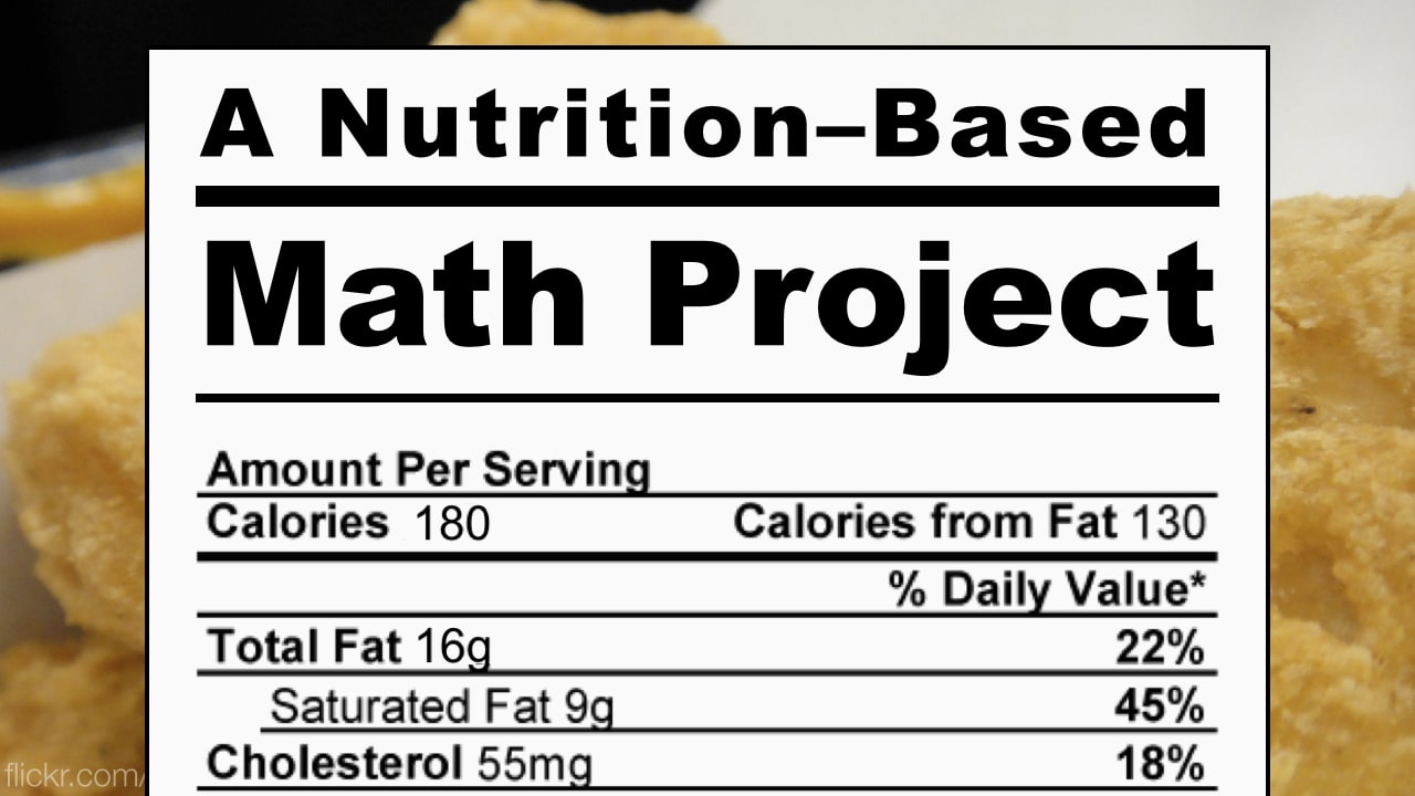 A Nutrition-Based Math Project from Byrdseed TV